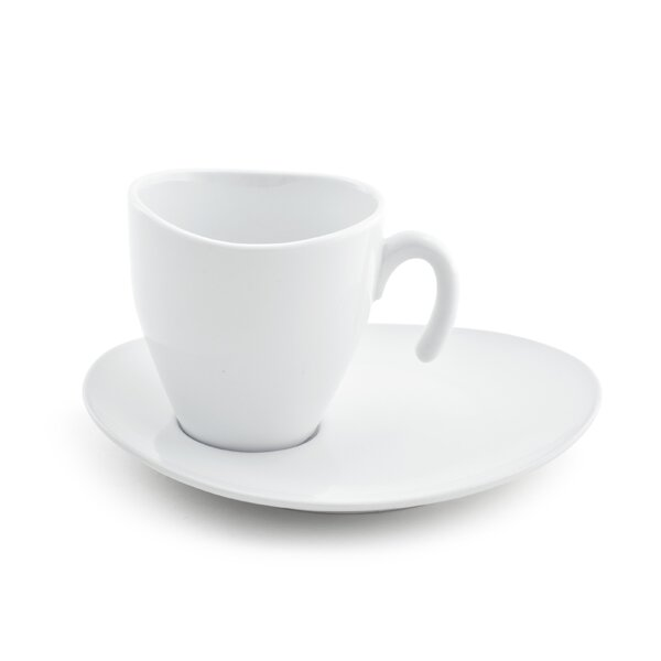 Marino 8 oz. Cup and Saucer (Set of 4) by Mint Pantry