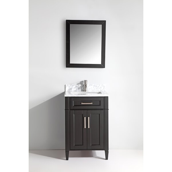 Lachine Marble 24 Single Bathroom Vanity with Mirr