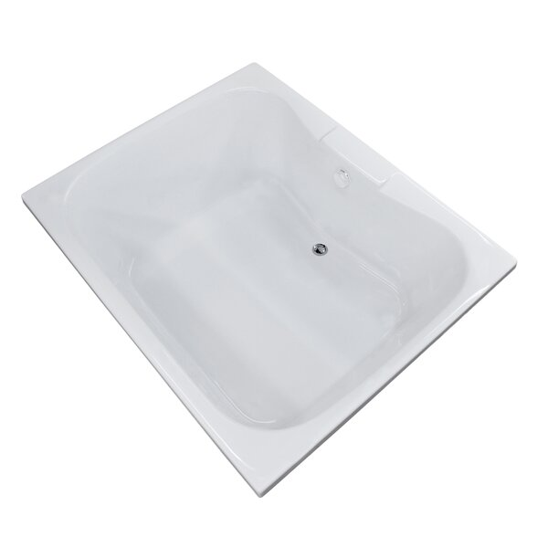 Dominica 59 x 40.5 Undermount Soaking Bathtub by Spa Escapes