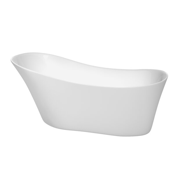 Janice 67 x 29.25 Soaking Bathtub by Wyndham Collection