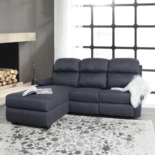 Best #1 Casserly Reclining Sectional By Red Barrel Studio No Copoun