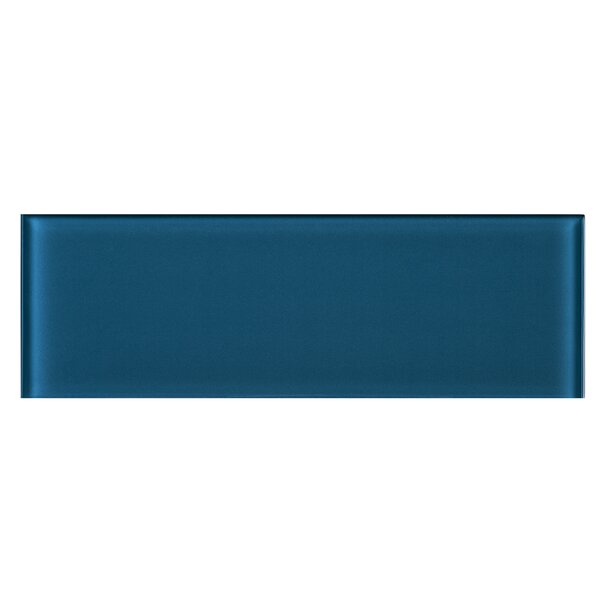 4 x 12 Glass Tile in Turquoise Blue by Multile