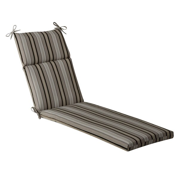 Striped Indoor/Outdoor Chaise Lounge Cushion by Pillow Perfect