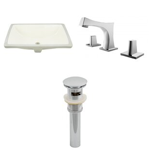 Affordable Ceramic Rectangular Undermount Bathroom Sink with Faucet and Overflow ByRoyal Purple Bath Kitchen