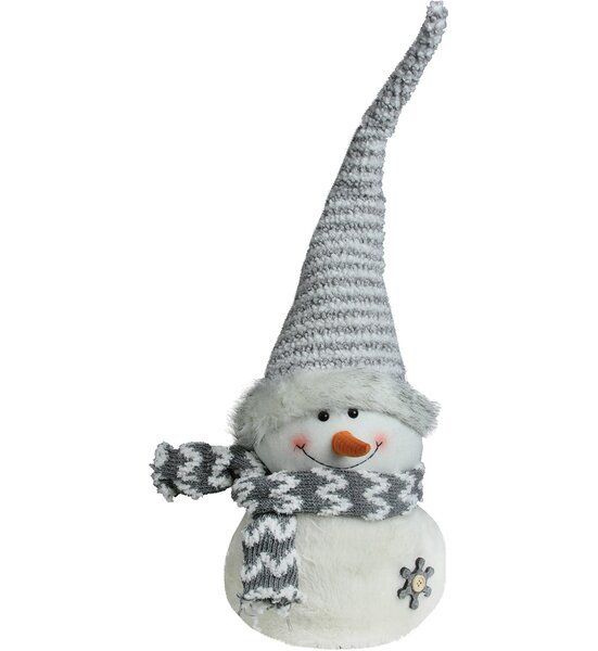 Snowman with Striped Hat Christmas Tabletop Decoration by Northlight Seasonal