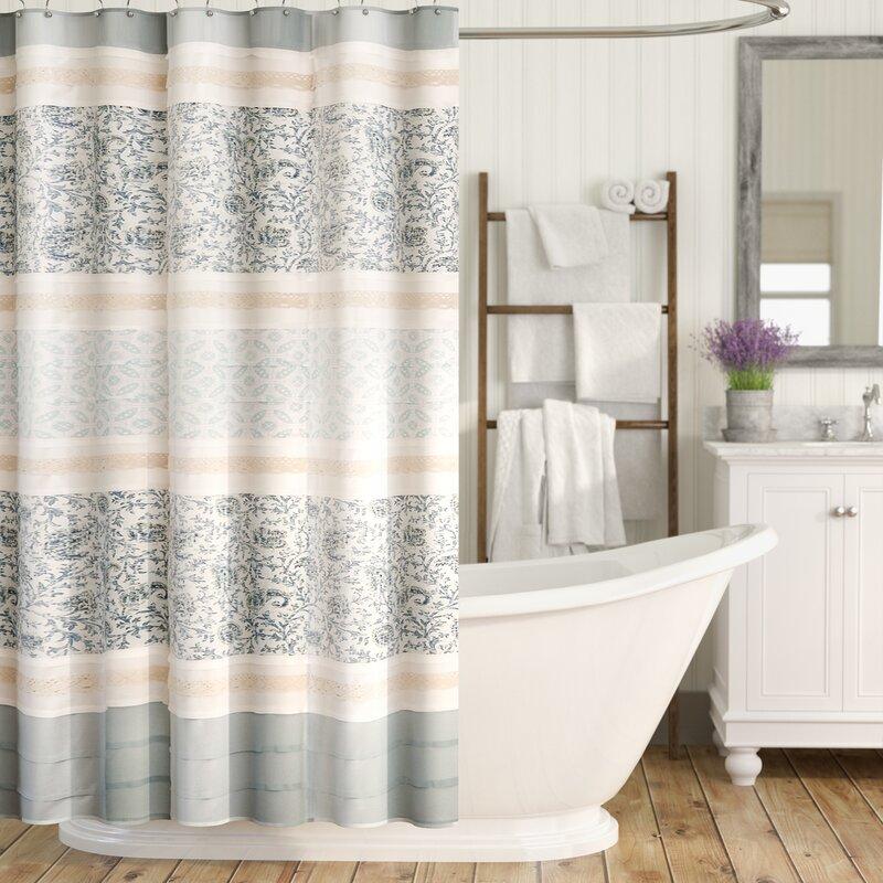 August Grove Chambery Cotton Shower Curtain & Reviews | Wayfair