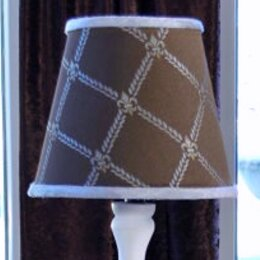 Bordeaux 7 H Empire Lamp Shade ( Clip On ) in Brown