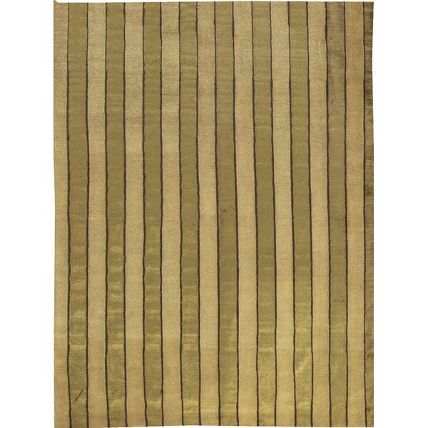 Indian Hand-Knotted Wool Gold Area Rug by Bokara Rug Co., Inc.