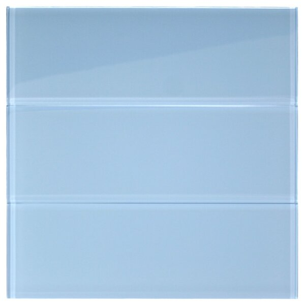 Wind 4 x 12 Glass Mosaic Tile in Sky Blue by CNK Tile