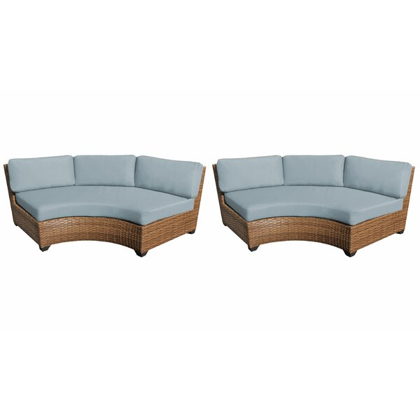 Medina Patio Sofa with Cushions (Set of 2) by Rosecliff Heights