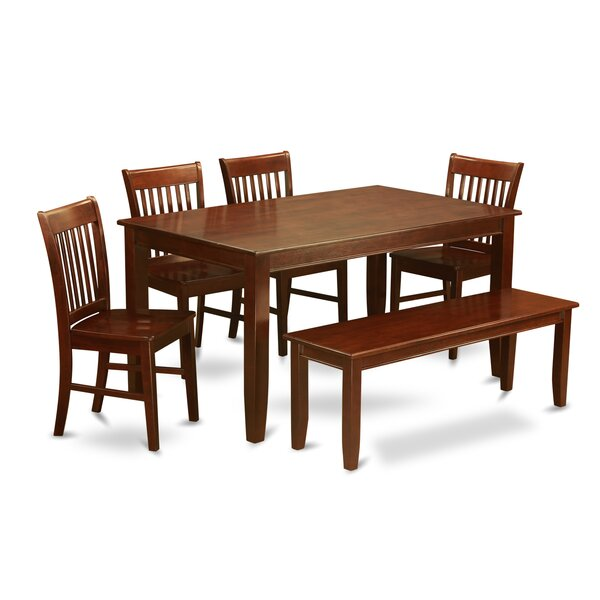 Dudley 6 Piece Solid Wood Dining Set by Wooden Importers