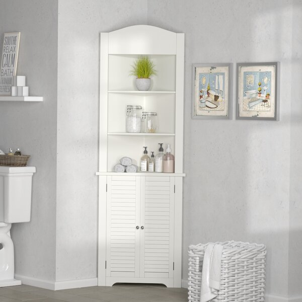 Leblanc 23.25 W x 68.33 H Linen Tower by Rebrilliant