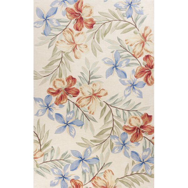 Cheyenne Hand-Tufted Ivory Floral Area Rug by Beachcrest Home