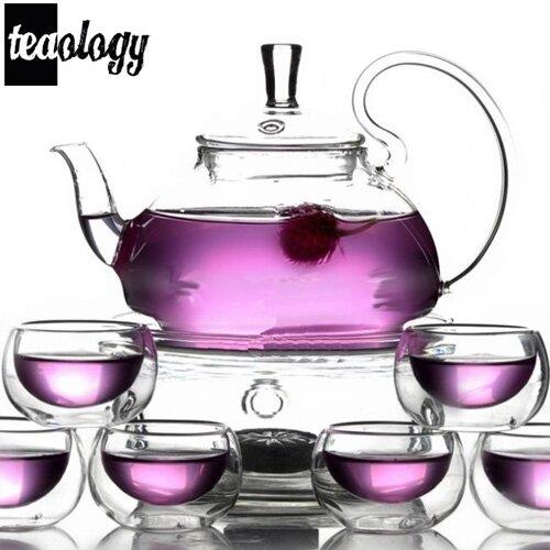 Teaology 8 Piece Borosilicate Blooming Tea Set by Vandue Corporation