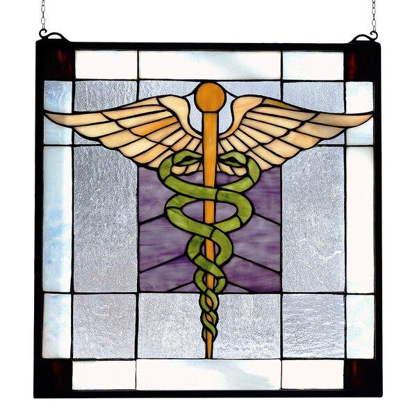 Americana Medical Stained Glass Window by Meyda Tiffany
