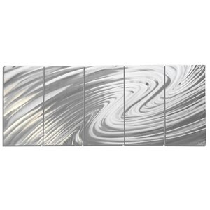 'The Wave' by Nate Halley 5 Piece Graphic Art Set by Metal Art Studio