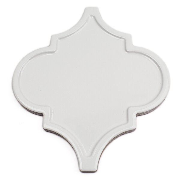Vintage Lantern 6.25'' x 7.25'' Ceramic Field Tile in White by Splashback Tile