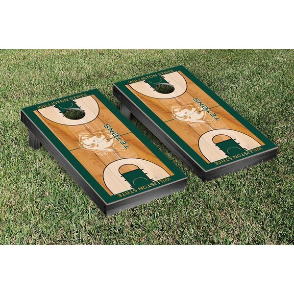 NCCA Williston State Tetons Basketball Version Cornhole Game Set by Victory Tailgate
