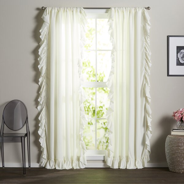 Minden Solid Light Filtering Rod Pocket Curtain Panels (Set of 2) by Greyleigh