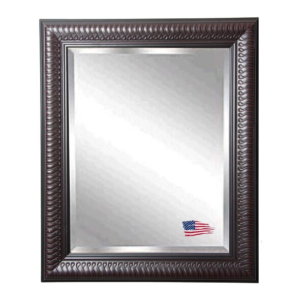 Rectangle Dark Mahogany Beveled Wall Mirror by Astoria Grand
