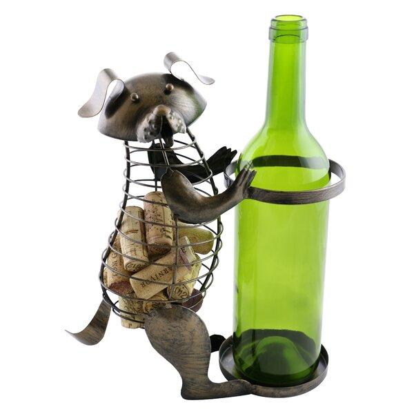 Arlinda Dog Cork 1 Bottle Tabletop Wine Bottle Rack by Wine Bodies Wine Bodies