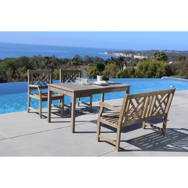 Andromeda 4 Piece Dining Set by Beachcrest Home