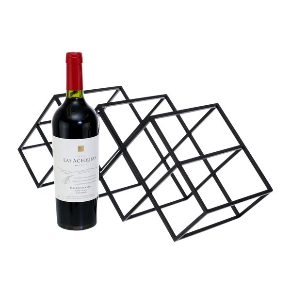 Mayna Geometric 7 Bottles Tabletop Wine Bottle Rack by Wrought Studio