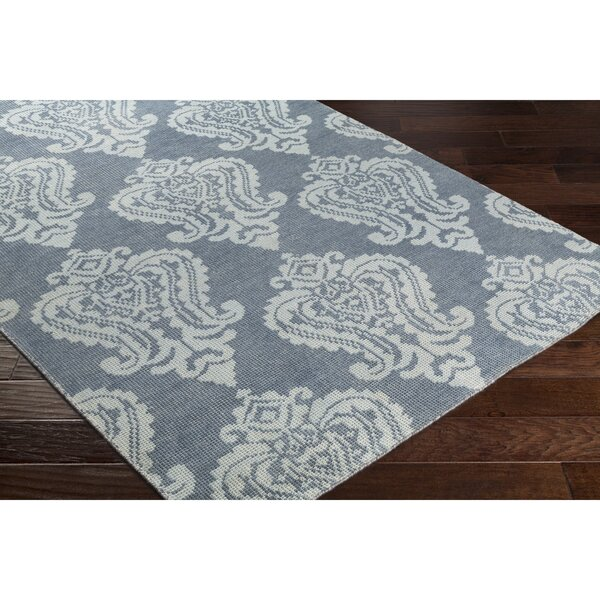 Riverview Hand-Knotted Blue/Grey Area Rug by Red Barrel Studio