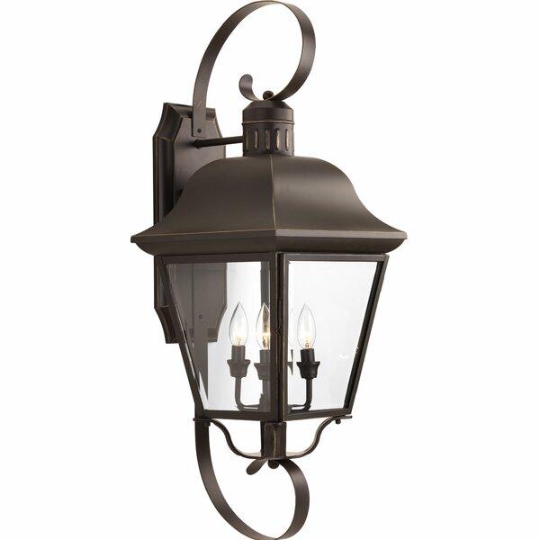Alcott Hill Triplehorn 4 Light Outdoor Wall Lantern Reviews Wayfair