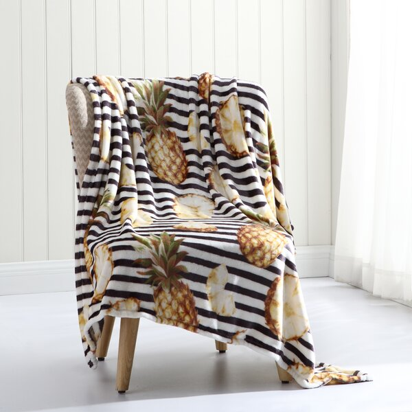 Cavalier Tropical Plush Throw by Wrought Studio