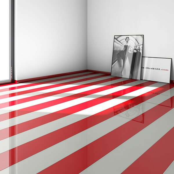 7 x 52 x 9mm Laminate Flooring in Red by ELESGO Floor USA