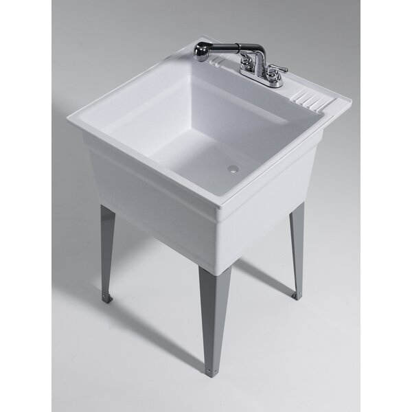 Heavy Duty 23.75 x 25.25 Freestanding Laundry Sink with Faucet by Cashel
