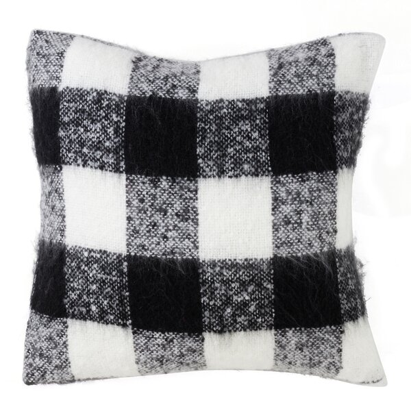 Zelaya Mohair Plaid Throw Pillow by Gracie Oaks