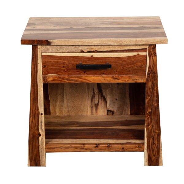 Marissa Solid Sheesham Wood 1 Drawer Nighstand by Loon Peak