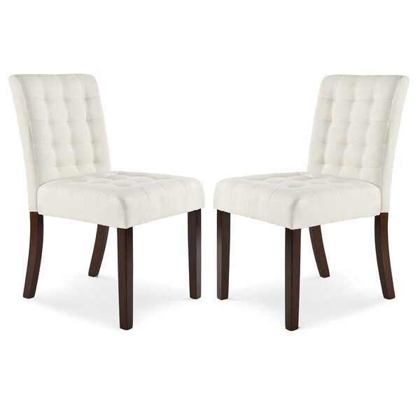 Atkin Upholstered Dining Chair (Set of 2) by Ebern Designs