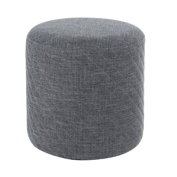 Izabella Diamond Stitched Round Cocktail Ottoman by 17 Stories