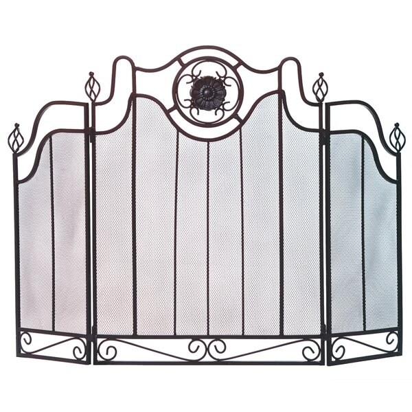 Italian Countryside 3 Panel Iron Fireplace Screen By Zingz & Thingz