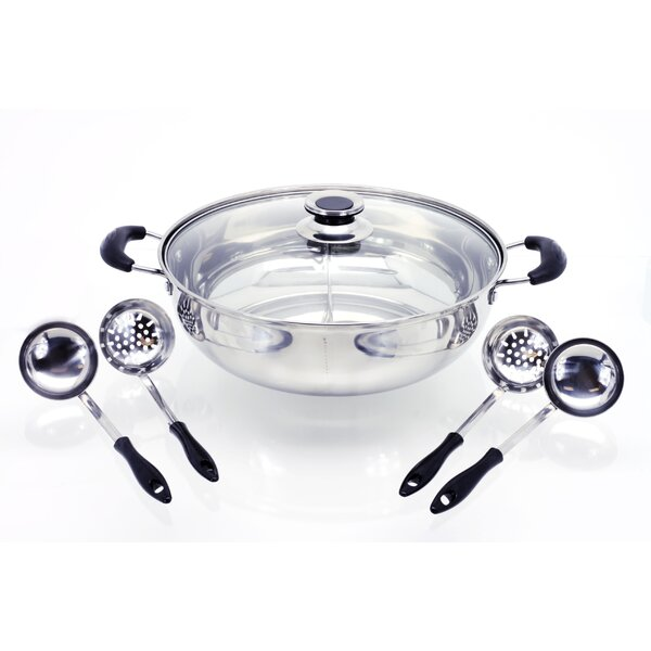 Hot Pot Shabu Shabu Cooking Stainless Steel Fondue Set by Muchome