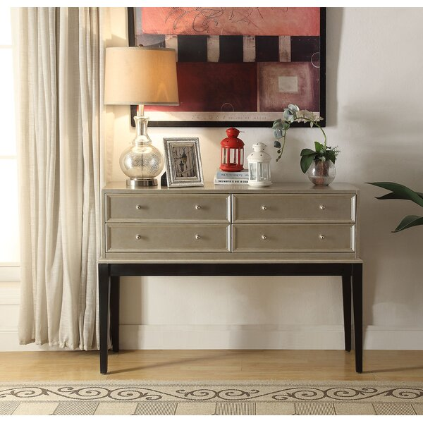 Nala Antique Silver 4 Drawer Accent Chest by Rosdorf Park