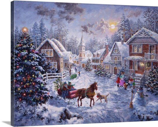 Christmas Art Merry Christmas By Nicky Boehme Painting Print By Great Big Canvas.