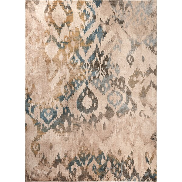 Higgins Cream Area Rug by Bungalow Rose