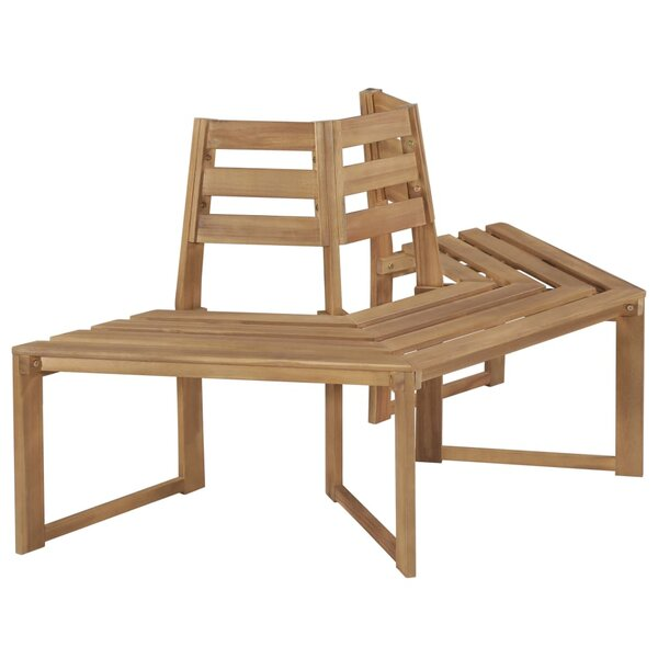 Mcreynolds Wooden Tree Bench by East Urban Home