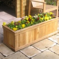 Teak Planter Box by Diamond Teak