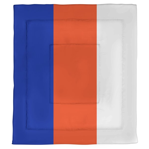 College Stripes Florida Microfiber Single Reversible Comforter