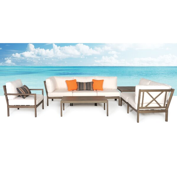Avalon 8 Piece Sunbrella Sectional Set with Cushions by Meadow Decor