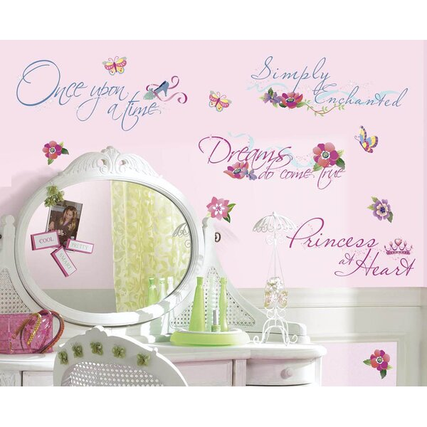 Disney Princess Quotes Cutout Wall Decal by Wallhogs