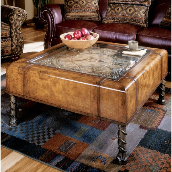 Hobson Clock Coffee Table by Astoria Grand