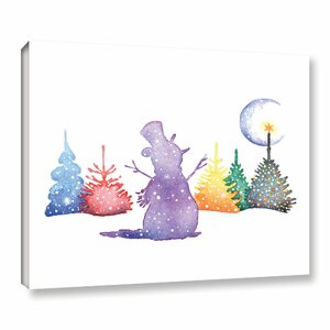 'Holiday Snowman' Print on Wrapped Canvas by The Holiday Aisle