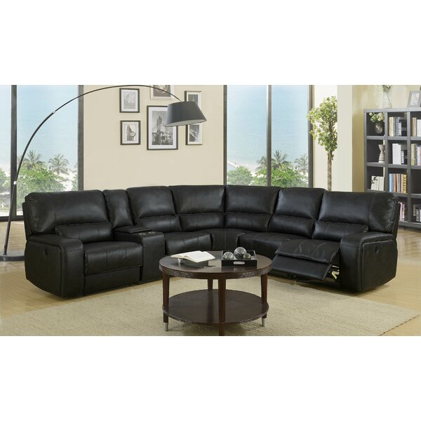 Trower Upholstered Power Reclining Sectional By Red Barrel Studio Savings