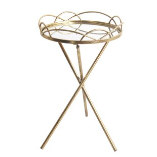 Deals Aviles Metal Round End Table ByMercer41